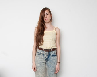 Dead stock Vintage Striped Yellow Summer tank Top