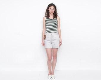NOS Vintage Grey Denim Shorts front pocket Size S or M