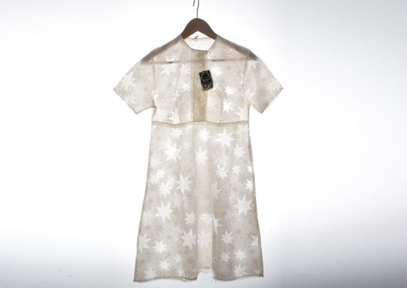 Reserved for Alex Nos vintage babydoll 60's night gown Size S Stars