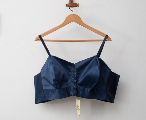 1940 navy blue bullet bra bombshell dead stock Vintage
