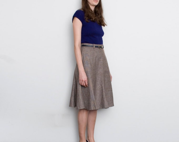 NOS Vintage  brown  flared Skirt