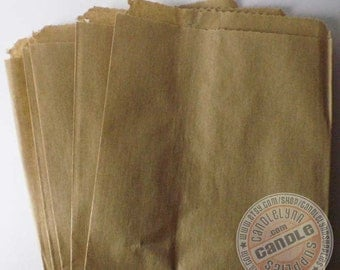 "75 Kraft Brown Merchandise Bags - 5"" x 7.5"""