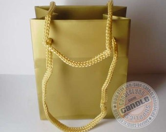 10 Gold Tote Bags with Handles