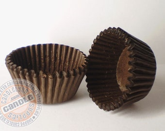 100 Small Chocolate Brown Cupcake Baking Cups