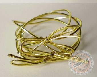 """25 Gold Stretch Loops - 6"""" - Packaging - Gifts - Bow"""