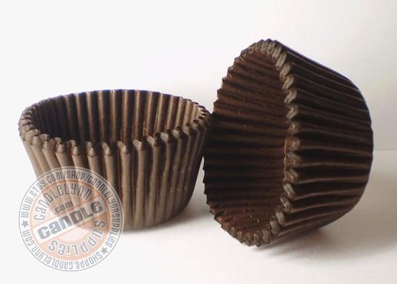 200 Standard Chocolate Brown Glassine Cupcake Baking Cups