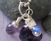Half Priced Amethyst & Moonstone Cluster Necklace : February Birthstone