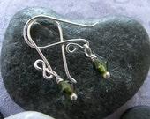 Swarovski Olivine Peridot Green Sweet 16 Earrings