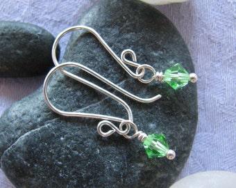 Swarovski Fern Lime Green Sweet 16 Earrings