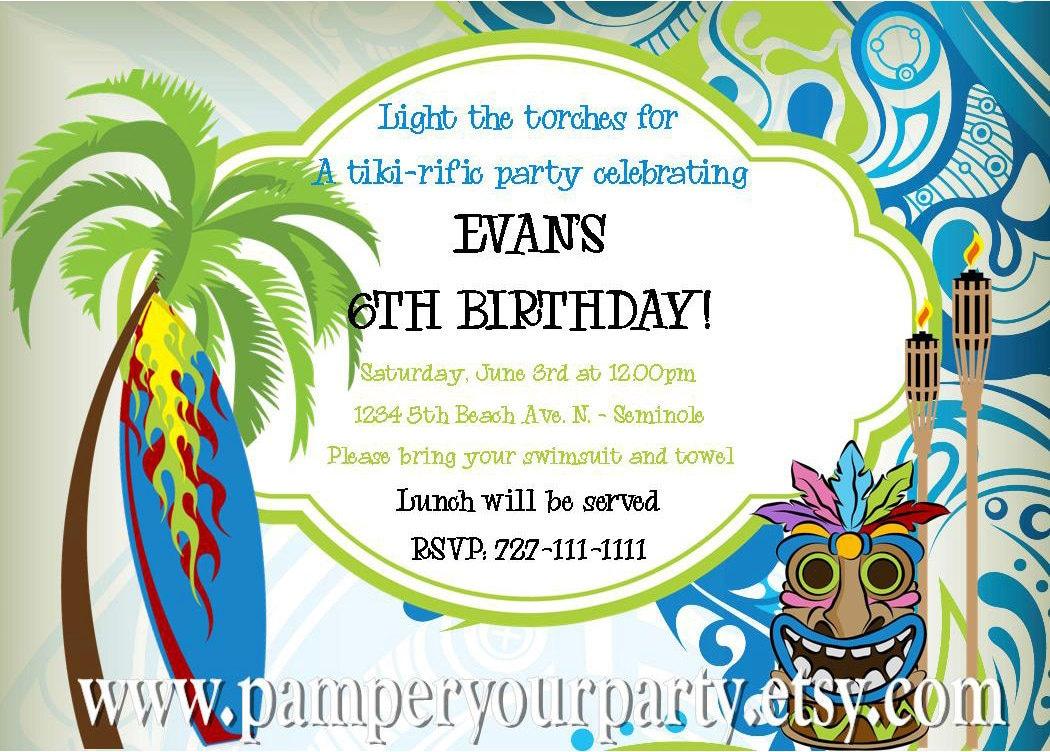 Luau Invites is adorable invitation ideas
