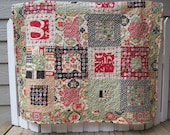 Quilted Baby Blanket Using Circa 1934, Cosmo Cricket by Moda Fabric