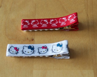 Hello Kitty hair clips - set of two