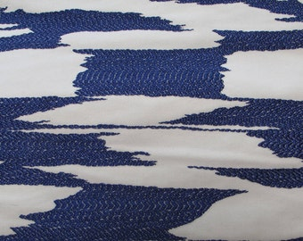 NEW Fabric sold by the Yard from our Reflection Collection-Sapphire Blue and White