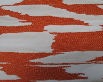 NEW Fabric sold by the Yard from our Reflection Collection-Orange and White