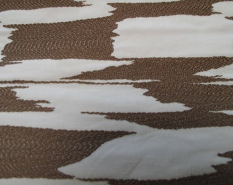 NEW Fabric sold by the Yard from our Reflection Collection-Mocha and White