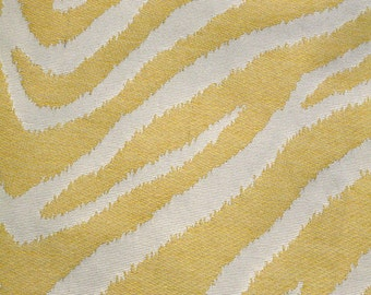 New Fabric Sold By the Yard--Classy Zebra Stripe Fabric--Mimosa and Off White