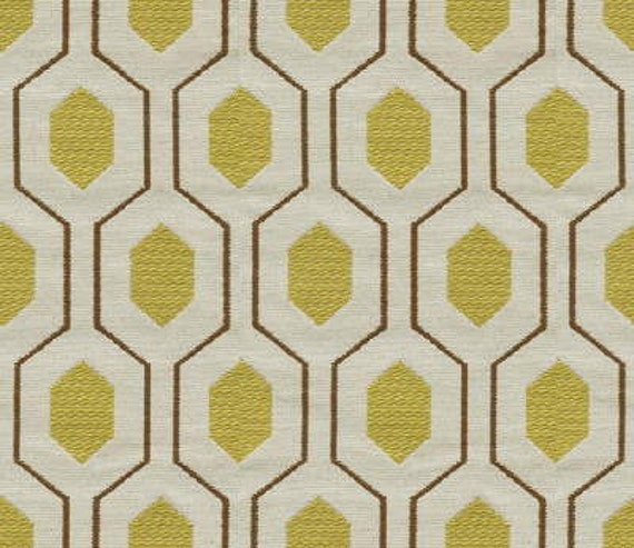 Items similar to Geometric Retro Vintage Mid Century Patterned Fabric by  the Yard - Mellow on Etsy