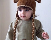 Reindeer Hat with Ear Flaps - Photography Prop - for newborn and children-boy halloween costume