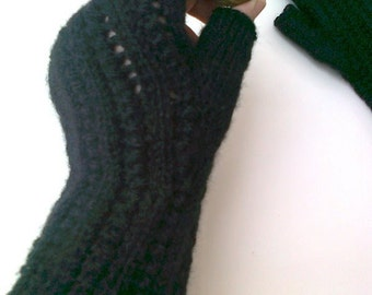 Black Half Finger- Fingerless Gloves