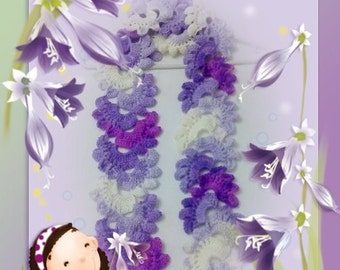 Crocheted Lace Scarf (purple variegated)