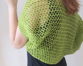 Pistachio Green Elegant Shrug-Knitting Green Shrug - Any Season-Bolero-New Item