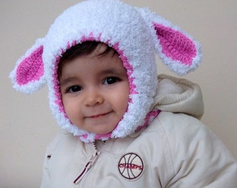Cyber monday-Little Lamb Hat For Her,Photo Prop,  for Baby or Toddler-Baby Girl or Boy Hat