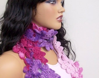 Crocheted Lace Scarf
