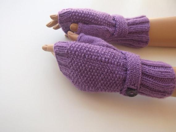 Violet Fingerless Gloves-Fingerless Gloves, Arm Warmers