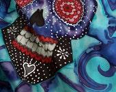 Sugar skull scarf - Day of the dead fashion