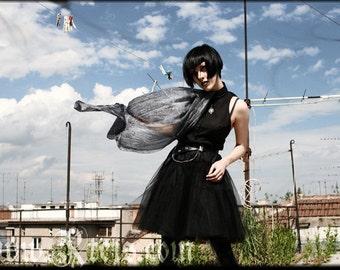 Gothic accessories - silk shawl - punk rock fashion