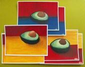 Avocados - Set of 6 postcards