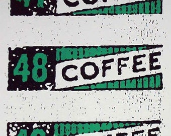 Coffee Ration Stamps art print