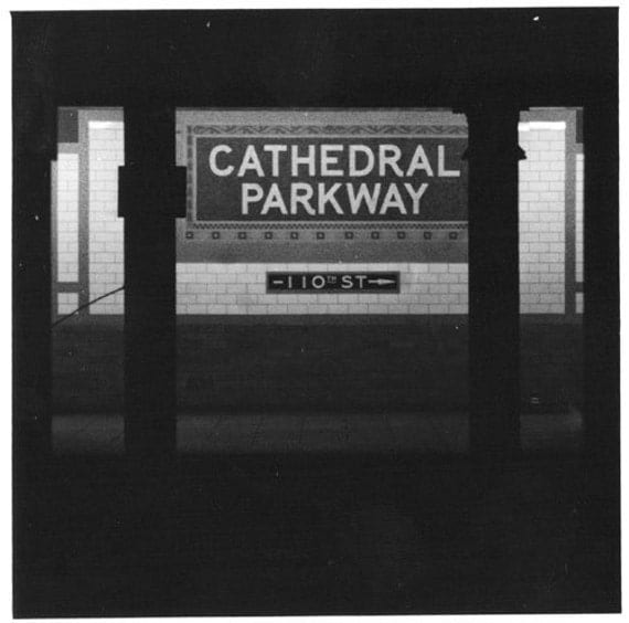 Cathedral Parkway B&W photo