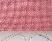 Table Runner, Table Decoration, Designer Slubby Basket Weave Petal Pink Table Runner 15 x 52