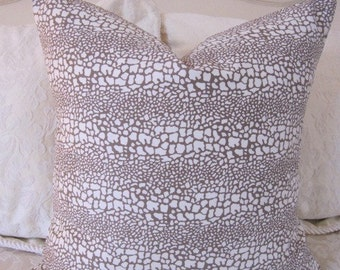 SALE...Pillow, Decorative Throw Pillow Cover, Designer Chocolate Spots Pillow Cover 16 x 16 in stock and ready to ship