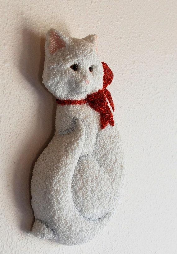 Pretty Little Kitty, a Beadwork Plaque