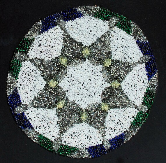 FREE SHIPPING (USA): Star Flower, a Beadwork Painting