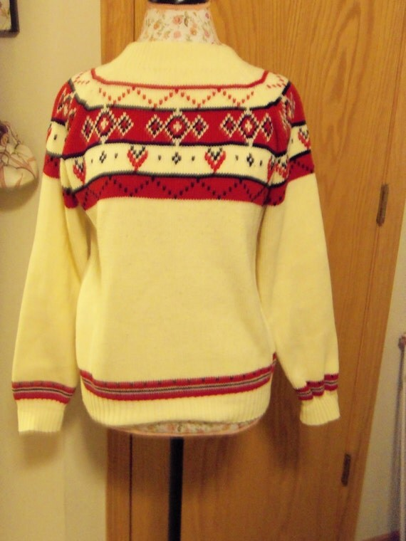 JC Penney Nordic Sweater Sz. Small 1970's SALE