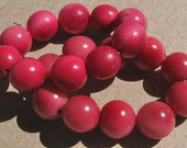 20 Mixed Pink Tagua Nut Beads, 12mm Round Beads, Organic Beads, Vegetable Ivory Beads, Natural Beads, EcoBeads