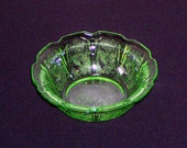 Vintage Green Jeanette Cherry Blossom Small Berry Bowl, Depression Glass