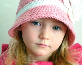 Country Pink Hat for girl (Any sizes, any colors)