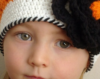 Hot orange hat for girl (Any sizes)