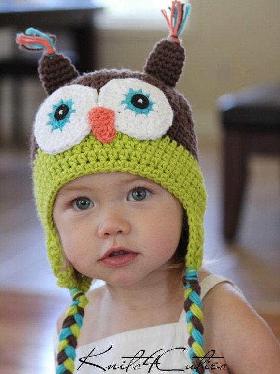 Baby owl hat