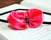 Sassy Pink Bow Headband