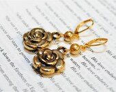 Golden Ticket Flower Earrings