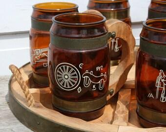 Siesta Ware Western Mugs and Tray