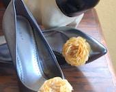 Yellow Taffita Shoe Clips
