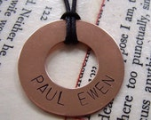 Brother Love Copper Washer Necklace