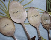Herb spoon garden marker - set 4