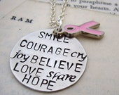 Courage and Hope Cancer Awareness Necklace